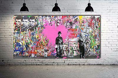 Urban Street Art Banksy Graffitti Collage Street Art Canvas Print